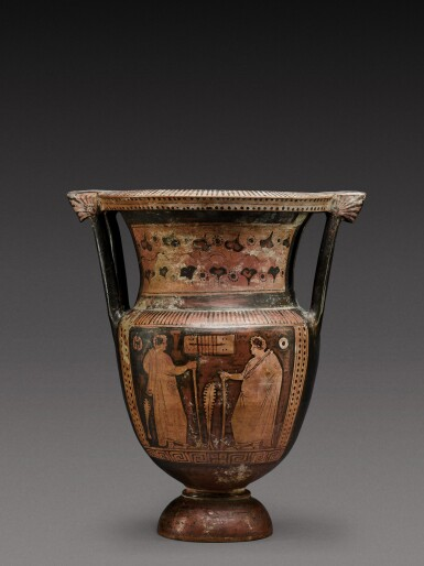View 2. Thumbnail of Lot 35. An Apulian Red-figured Column Krater, attributed to the Painter of the Truro Pelike, circa 350-330 B.C. .