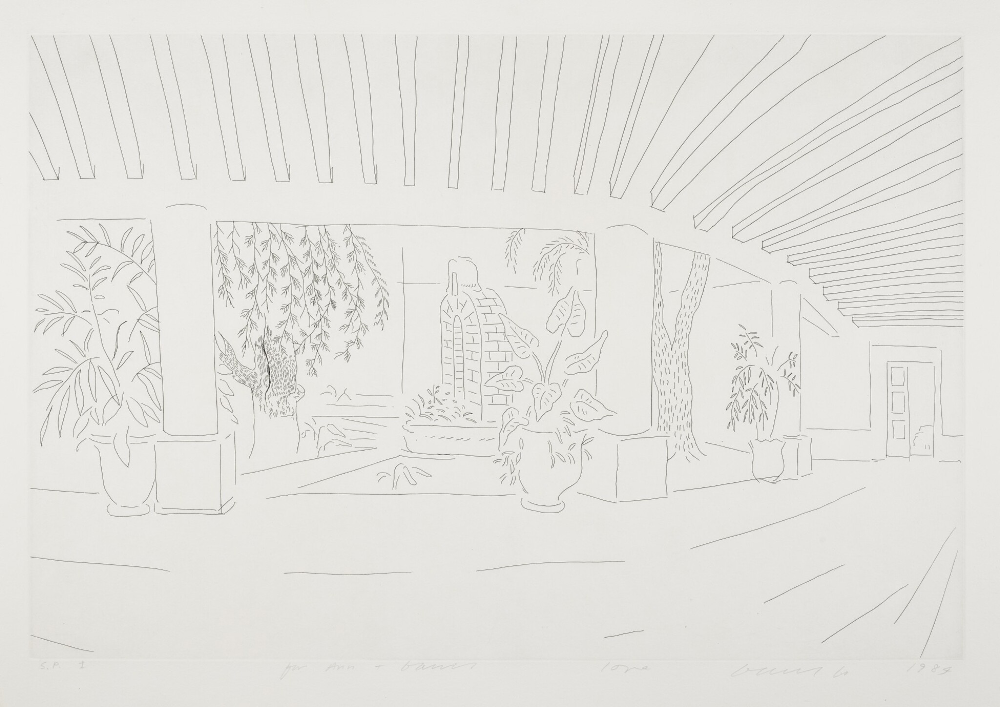 View full screen - View 1 of Lot 144. DAVID HOCKNEY, R.A. | MEXICAN HOTEL GARDEN (MCA TOKYO 256).