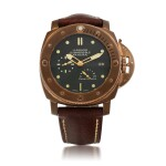 LUMINOR SUBMERSIBLE 1950 3-DAYS AUTOMATIC BRONZO, REF PAM00507 LIMITED EDITION BRONZE WRISTWATCH WITH DATE AND POWER-RESERVE INDICATION CIRCA 2011