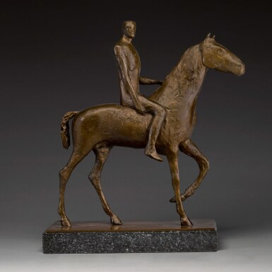 View 1. Thumbnail of Lot 701. DAME ELISABETH FRINK, R.A. | HORSE AND RIDER.