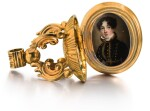 A GOLD FOB SEAL ENCLOSING A PAINTED IVORY MINIATURE OF A YOUNG LADY, CIRCA 1815