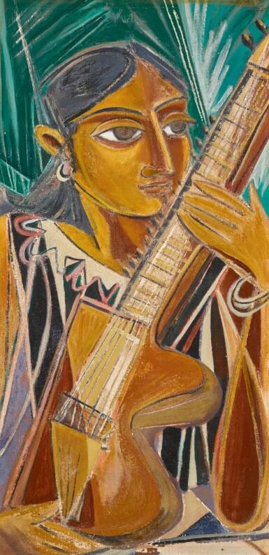 GEORGE KEYT | Sarangi Player