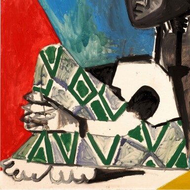 View 2. Thumbnail of Lot 1017. Pablo Picasso 巴布羅・畢加索 | Femme Accroupie 抱膝女子 .