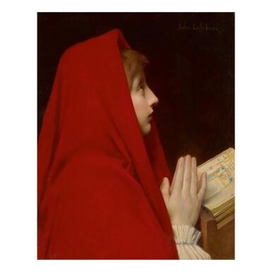 JULES JOSEPH LEFEBVRE   THE RED CLOAK