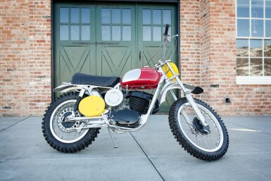View 21. Thumbnail of Lot 26. 1970 Husqvarna 400 Cross Ex Steve McQueen.
