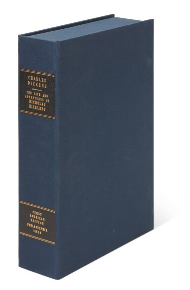 Dickens, Nicholas Nickleby, 1839, first American edition, bound from the parts