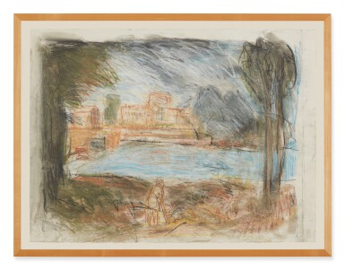 View 2. Thumbnail of Lot 413. LEON KOSSOFF   LANDSCAPE WITH CALM NO. 2.