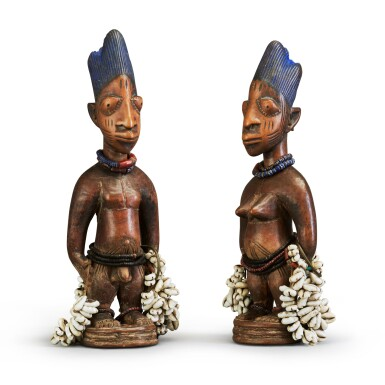 View 1. Thumbnail of Lot 150. Nigeria, Yoruba Peoples | Ere Ibeji Figures.