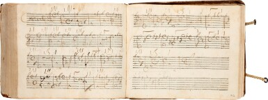 View 8. Thumbnail of Lot 64. Lute. Highly important early seventeenth-century manuscript of Italian and French lute music in French tablature, c.1620.