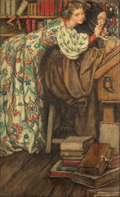 ELEANOR FORTESCUE-BRICKDALE, R.W.S.   The Cap that Fits