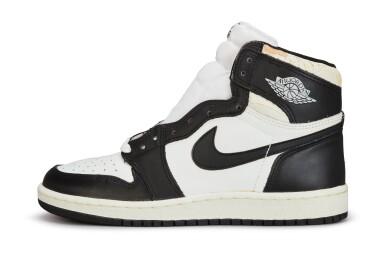 View 4. Thumbnail of Lot 11. Nike Air Jordan 1 High OG (1985) 'Black & White'  Size 8.5.
