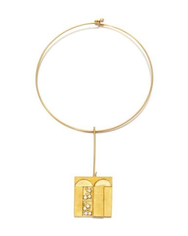 View 3. Thumbnail of Lot 124. Diamond necklace, Dimora (Collana con diamanti, Dimora).