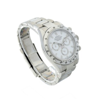 View 3. Thumbnail of Lot 4. ROLEX | REFERENCE 116520 DAYTONA A STAINLESS STEEL AUTOMATIC CHRONOGRAPH WRISTWATCH WITH BRACELET, CIRCA 2012.