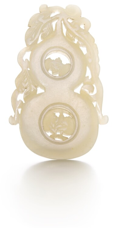 A PALE CELADON JADE DOUBLE-GOURD PENDANT, CHINA, QING DYNASTY, 18TH/19TH CENTURY