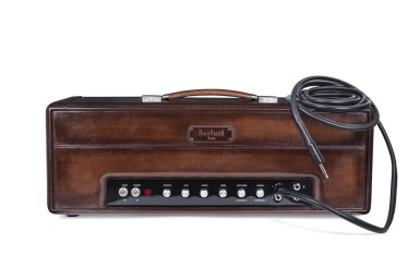 View 4. Thumbnail of Lot 9. Berluti | Amplifier, Guitar with Case and Boots (Ampli, Guitare avec Housse et Bottine) [5 Items / Articles].