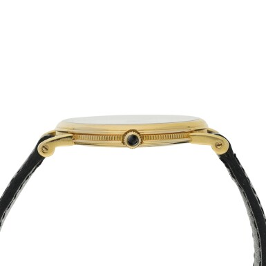 View 4. Thumbnail of Lot 204. RETAILED BY TIFFANY & CO.: A YELLOW GOLD WRISTWATCH, CIRCA 2000.