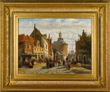 View 2. Thumbnail of Lot 86. The Zuiderspui with the Drommedaris, Enkhuizen.