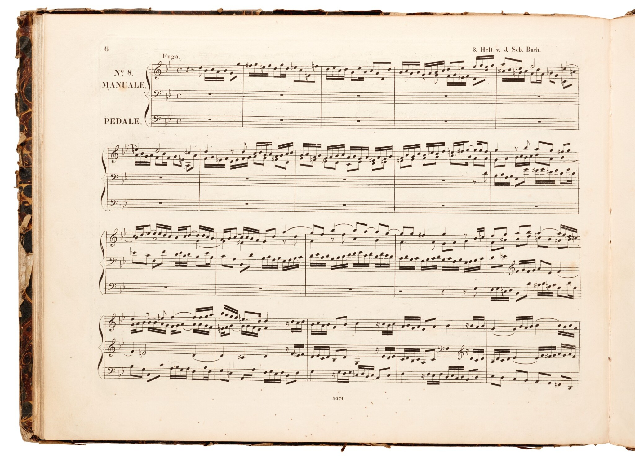 View full screen - View 1 of Lot 36. J. S. Bach. Three first and early editions of music for organ, bound in one volume, 1831-1834.