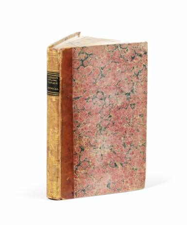View 2. Thumbnail of Lot 217. LESSON. Voyage médical autour du monde sur La Coquille. Roret, 1829. Demi-basane brune à coins de vélin..