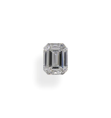 A 1.03 Carat Emerald-Cut Diamond, D Color, VS2 Clarity