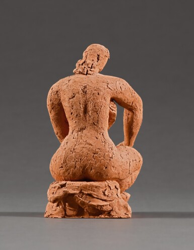 View 3. Thumbnail of Lot 6. FRANK DOBSON, R.A. | BATHER, STUDY FOR TOILET.