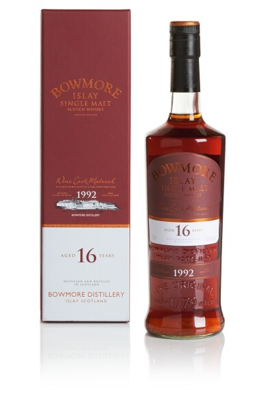 View 1. Thumbnail of Lot 296. BOWMORE 16 YEAR OLD WINE CASK MATURED 53.5 ABV 1992  .