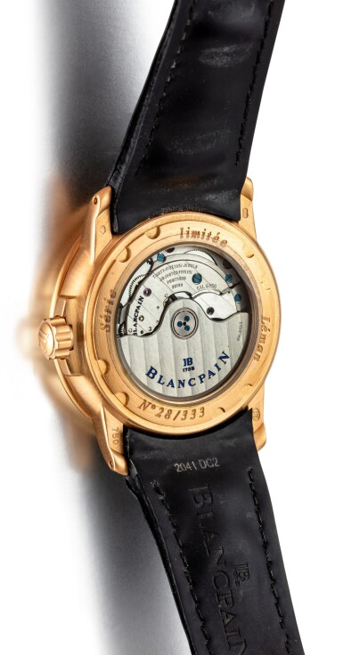View 3. Thumbnail of Lot 615. BLANCPAIN   LÉMAN, REFERENCE 2850A-3630-64B,  A LIMITED EDITION PINK GOLD WRISTWATCH WITH DATE, CIRCA 2005.