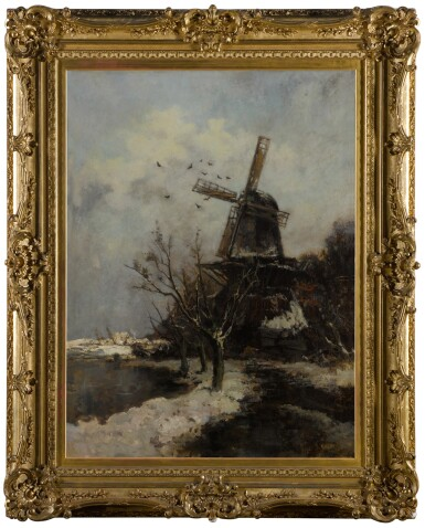 View 2. Thumbnail of Lot 89. Windmill by a Stream in Winter.