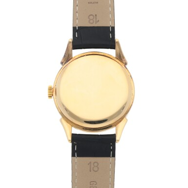 View 4. Thumbnail of Lot 411. REF 1582 YELLOW GOLD WRISTWATCH WITH FANCY LUGS MADE IN 1946.