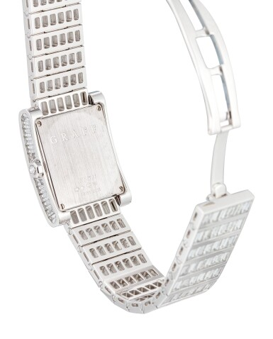 View 3. Thumbnail of Lot 1043. Reference WT4787 Exceptional White Gold and Baguette Diamond-Set Wristwatch | 格拉夫| 編號REF WT4787,超凡白金鑲方形鑽石腕表,約2010年製.