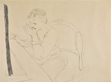 View 1. Thumbnail of Lot 145. DAVID HOCKNEY, R.A.    CELIA ADJUSTING HER EYELASH (GEMINI 837).