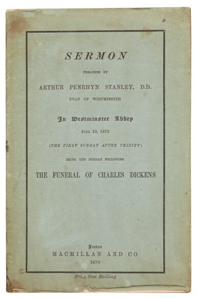 Stanley, Sermon preached    in Westminster Abbey