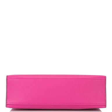 View 5. Thumbnail of Lot 15. Hermès Rose Pourpre Swift Mini Kelly Pochette.