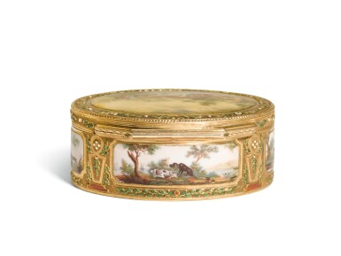 View 3. Thumbnail of Lot 55. A GOLD ENAMEL AND SNUFF BOX, PROBABLY GERMAN, LATE 18TH CENTURY.