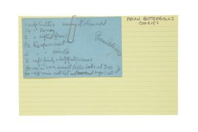 View 3. Thumbnail of Lot 57. GEORGIA O'KEEFFE | THE ARTIST'S RECIPE CARD FILE. CIRCA 1950S–1970S.