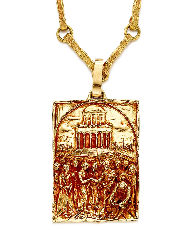 View full screen - View 1 of Lot 9021. 'Sposalizio della Vergine' Gold Pendent Necklace | 'Sposalizio della Vergine' 黃金項鏈.