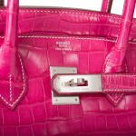 HERMÈS | SPECIAL ORDER (SO) FUCHSIA AND ROUGE GARANCE BIRKIN 30CM OF MATTE POROSUS CROCODILE BRUSHED WITH PALLADIUM HARDWARE