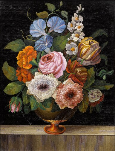 View 2. Thumbnail of Lot 119. An Italian micromosaic floral still life panel, Rome, mid-19th century.