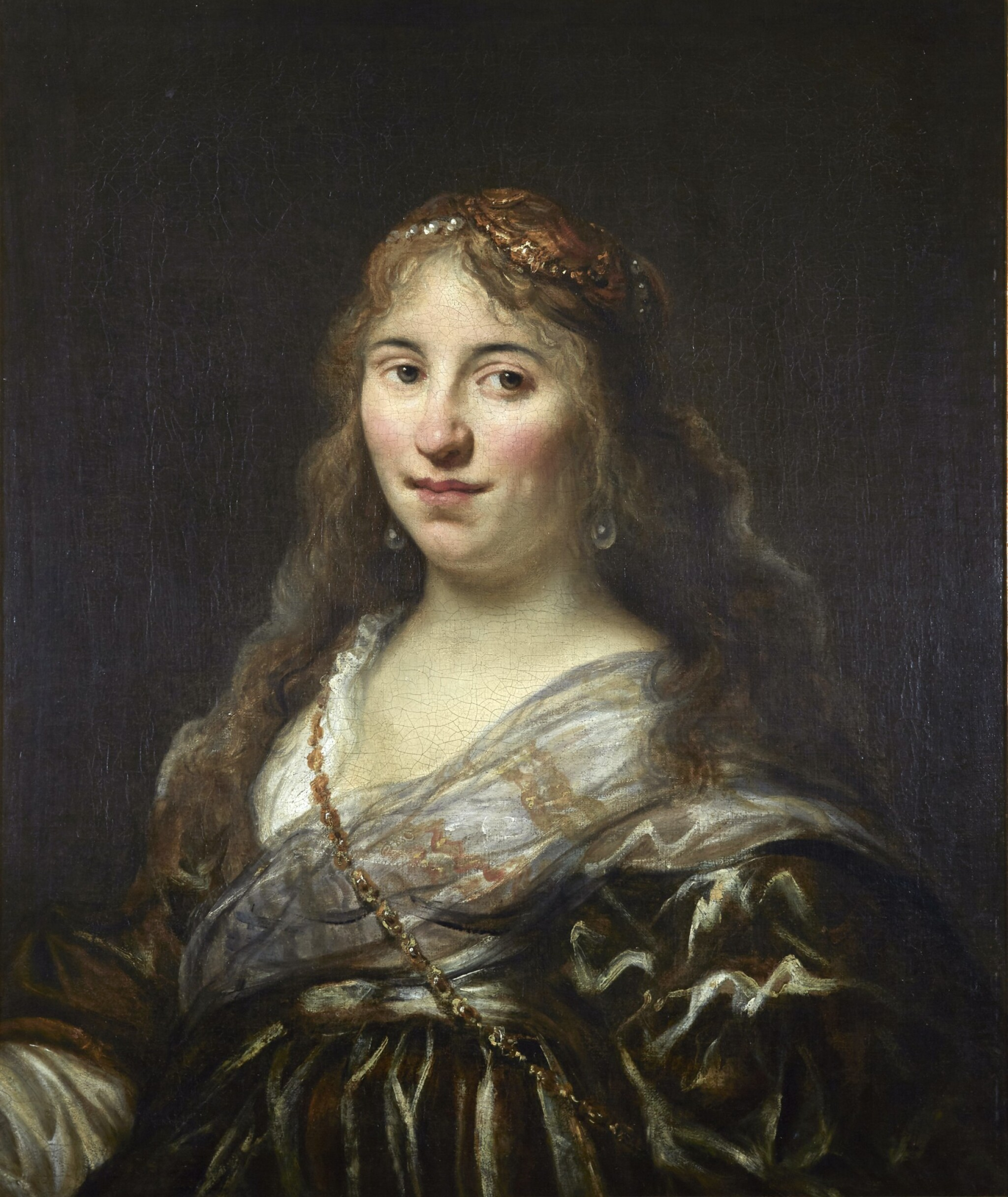 View full screen - View 1 of Lot 4. JOHANN SPILBERG THE YOUNGER | Portrait of a lady, half-length, in imaginary costume.