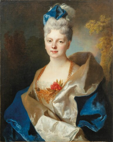 View 1. Thumbnail of Lot 45. Presumed portrait of the Countess Elisabeth de Saint-Périer (1701-1777).