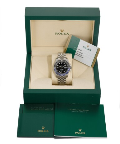 """View 6. Thumbnail of Lot 357. ROLEX   GMT-MASTER """"BATGIRL"""", REF 126710BLNR, STAINLESS STEEL DUAL-TIME WRISTWATCH WITH DATE AND BRACELET, CIRCA 2019."""