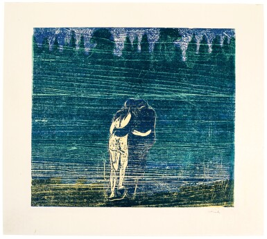 View 1. Thumbnail of Lot 96. EDVARD MUNCH | TOWARDS THE FOREST I (WOLL 112; SCHIEFLER 100).
