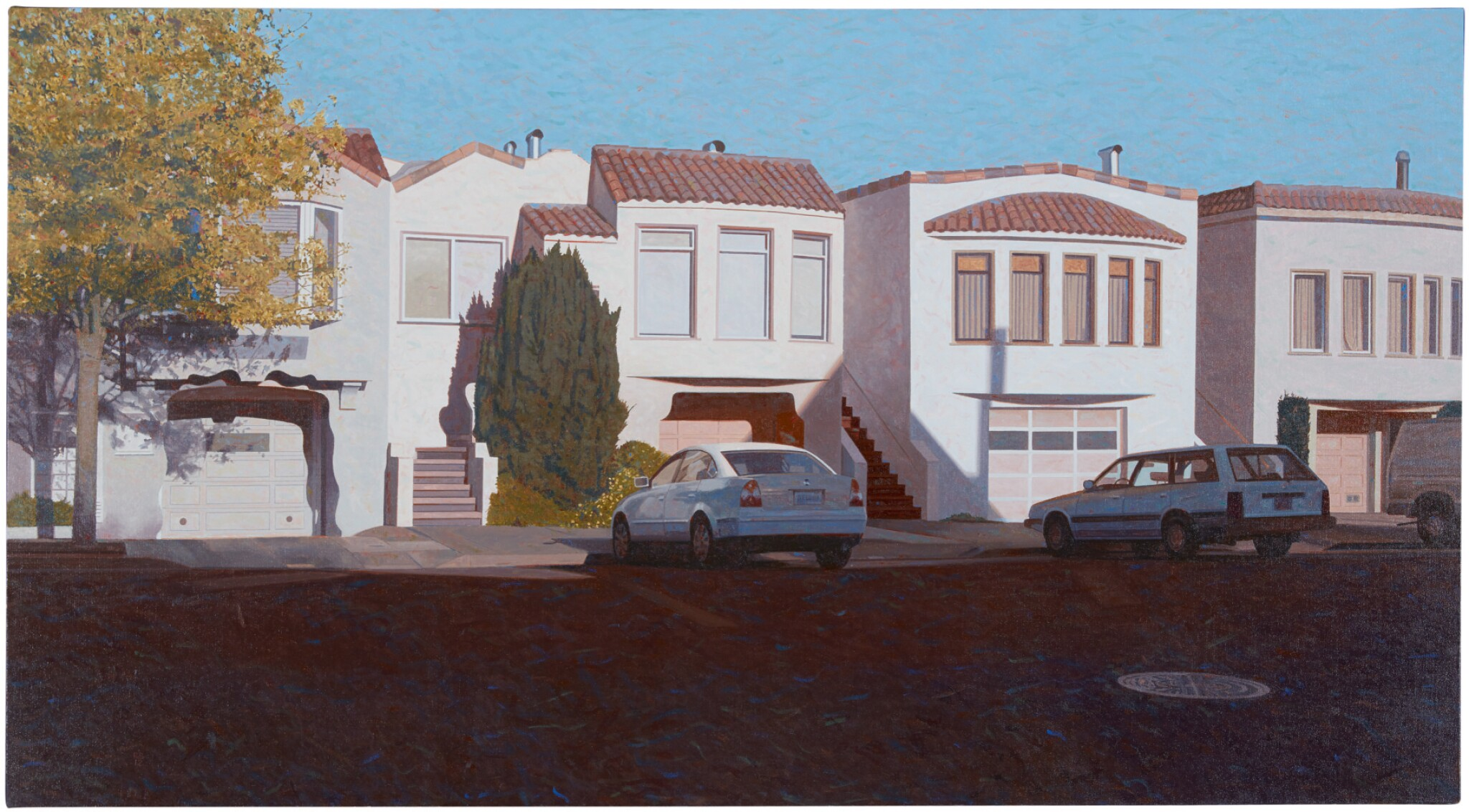 View full screen - View 1 of Lot 40. ROBERT BECHTLE |  FOUR HOUSES ON PENNSYLVANIA AVENUE.