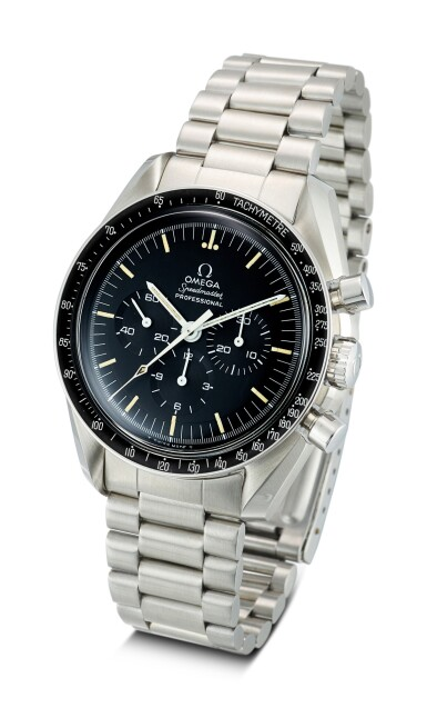 View 2. Thumbnail of Lot 618. OMEGA | SPEEDMASTER REFERENCE 145.022-69 ST A STAINLESS STEEL CHRONOGRAPH WRISTWATCH WITH BRACELET, CIRCA 1970.