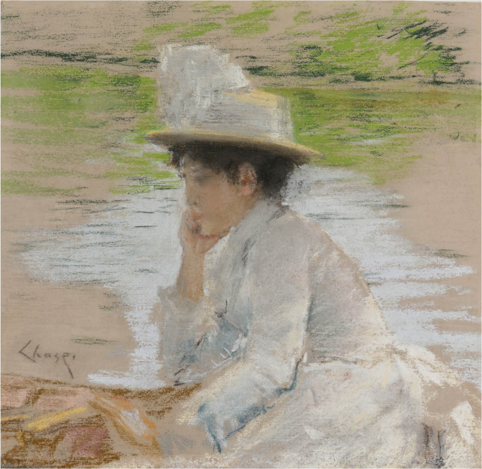 View 1 of Lot 52. Untitled (Portrait of Mrs. Chase).
