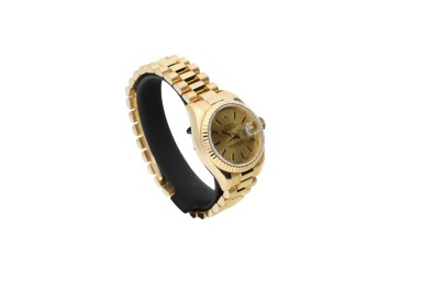 View 2. Thumbnail of Lot 460. ROLEX | REFERENCE 179178 DATEJUST  A YELLOW GOLD AUTOMATIC WRISTWATCH WITH DATE AND BRACELET, CIRCA 2002.
