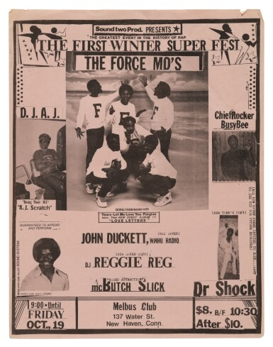 View 3. Thumbnail of Lot 17. [FAB 5 FREDDY; BUDDY ESQUIRE; VAN SILK; STRAIGHTMAN; ET AL.]   COLLECTION OF 23 EARLY HIP HOP FLIERS, 1979-1985..