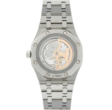 View 6. Thumbnail of Lot 9. AUDEMARS PIGUET | REFERENCE 26574ST.00.1220ST.01 ROYAL OAK   A STAINLESS STEEL AUTOMATIC PERPETUAL CALENDAR WRISTWATCH WITH MOON PHASES AND BRACELET, CIRCA 2018.