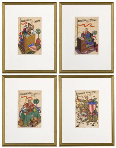 View 6. Thumbnail of Lot 113. The Four Freedoms.