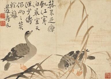 View 7. Thumbnail of Lot 2527. Bian Shoumin 1684-1752 邊壽民   Geese 蘆雁.